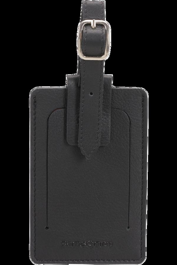 Samsonite Global Ta ID Leather Luggage Tag Schwarz