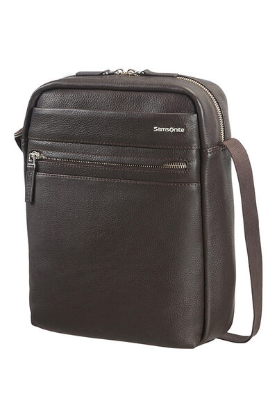 Hip-Class Lth Crossover Bag Dark Brown