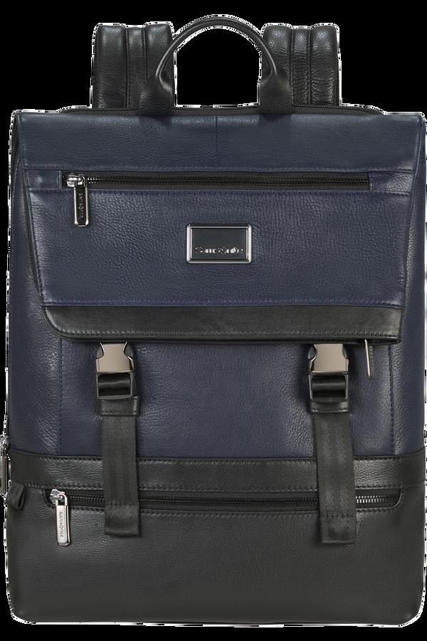 Samsonite Waymore Lth Laptop Backpack Flap Slim  15.6inch Blau