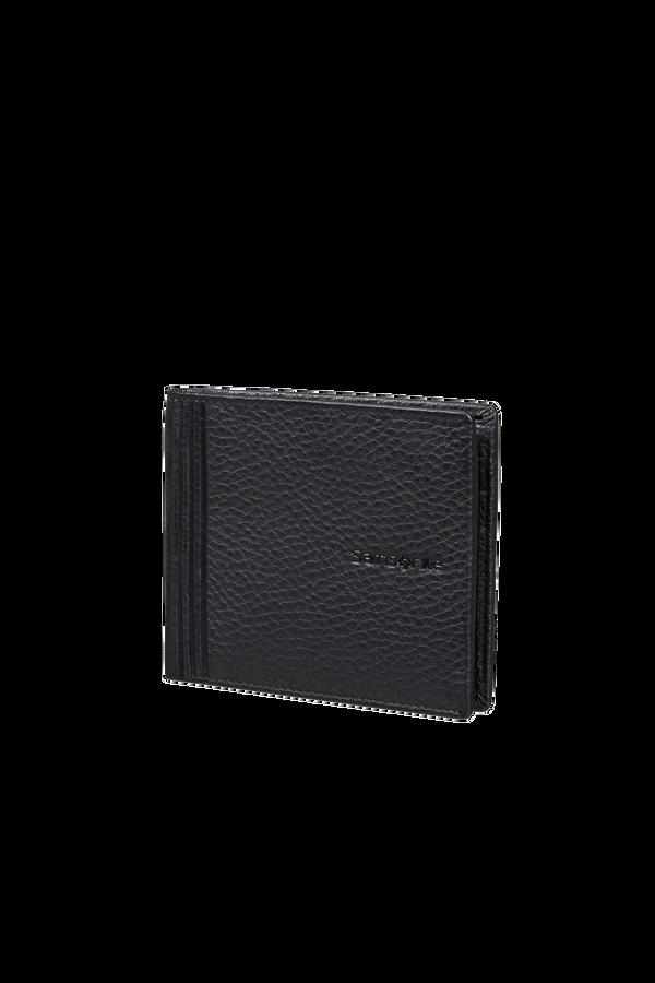 Samsonite Double Leather Slg 001 - B S 6CC+2C  Schwarz