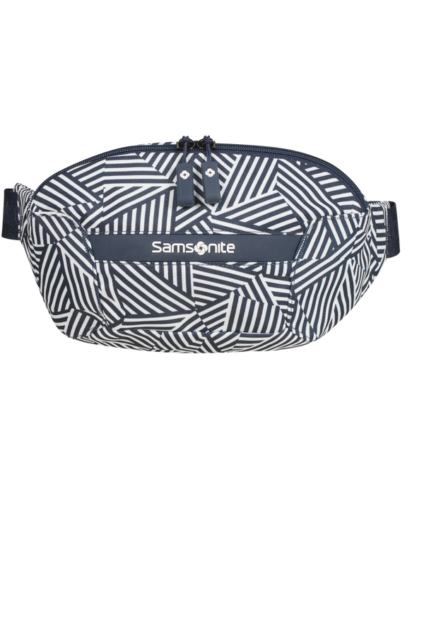Samsonite Rewind Belt Bag  Navy Blue Stripes