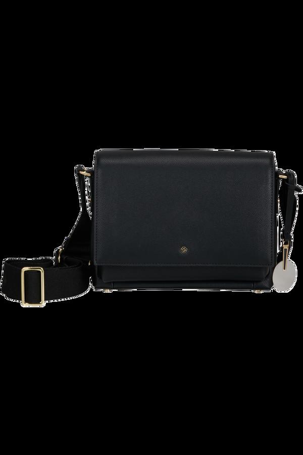 Samsonite Roundtheclock Shoulder Bag + Flap  Schwarz
