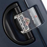 Dreipunkt-TSA-Kombinationsschloss für sicheres Reisen in die USA.